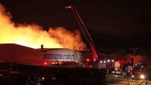 Kayseri'de tekstil fabrikasında yangın