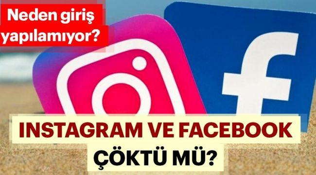 Instagram'a neden giriş yapılamıyor? Instagram çöktü mü? Facebook'ta erişim sorunu yaşanıyor…