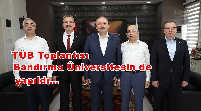 Trakya Üniversiteler Birliği Üst Kurul Toplantısı Bandırma Üniversitesinde Yapıldı