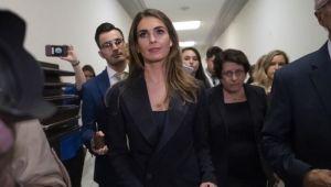 Hope Hicks Beyaz Saray'a Geri Dönüyor