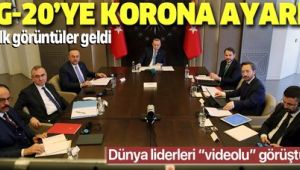 Cumhurbaşkanı Erdoğan G20 liderler zirvesine video konferansla katıldı