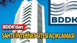 BDDK'dan sahte internet siteleri için uyarı