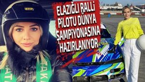 Elazığlı ralli pilotu Merve Mermer, Umman'da yapılacak dünya şampiyonasına hazırlanıyor