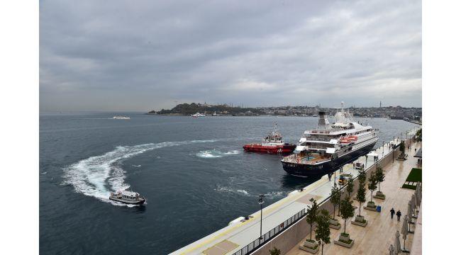 Galataport İstanbul ilk yolcu gemisini, dünyanın tek yer altı kruvaziyer terminalinde ağırlıyor
