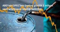ABD'nin OPEC'ten üretimi günlük 1 milyon varil artırmasını istediği belirtildi