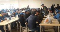 Dev fabrikada grev! Jandarma kapıda…